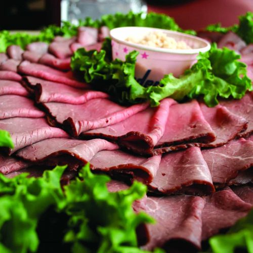 Roast beef event catering platter