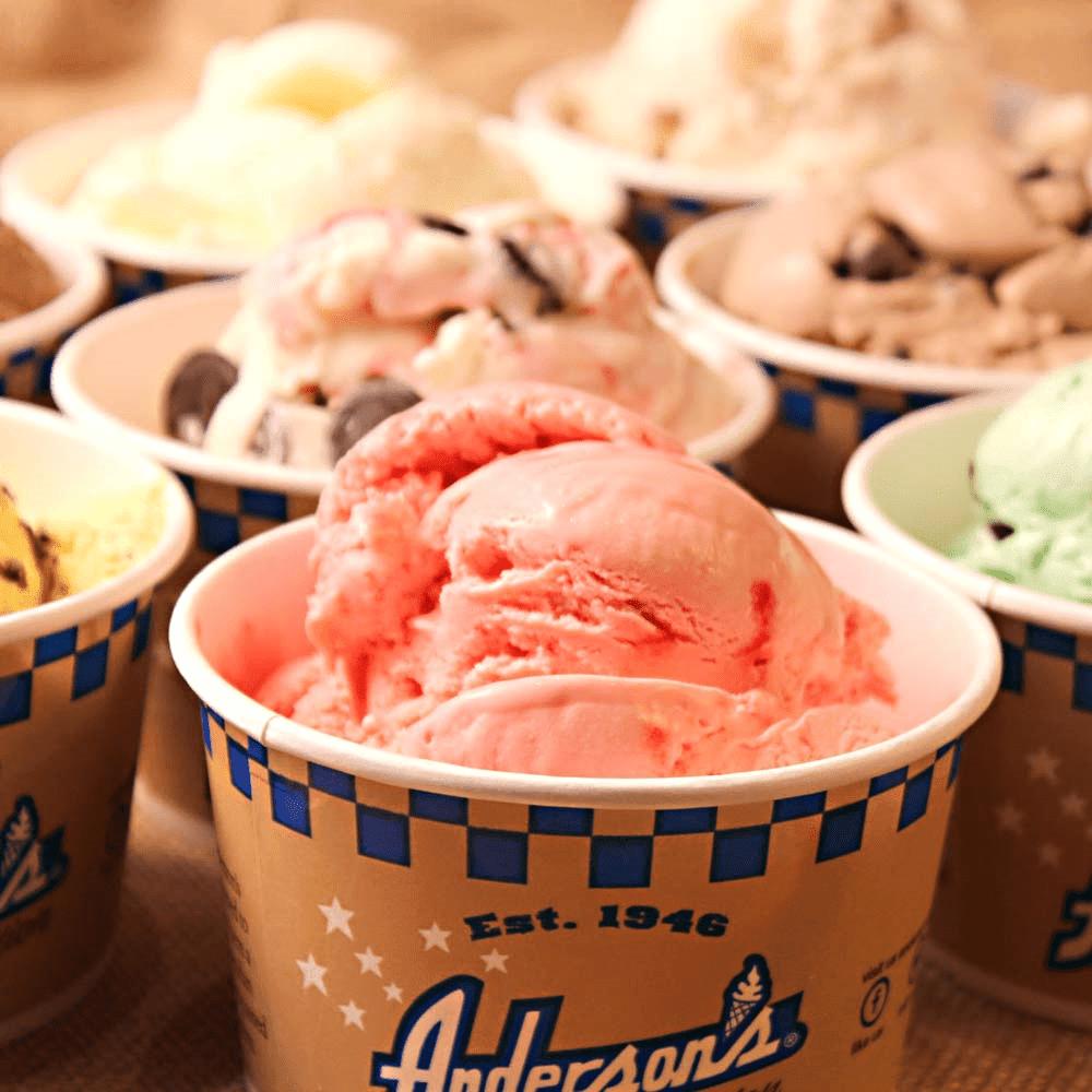 event catering scoops of ice cream