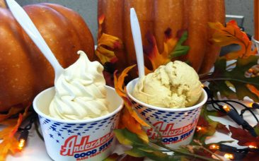 Pumpkin custard and ice cream at Anderson's Frozen Custard in Buffalo, NY