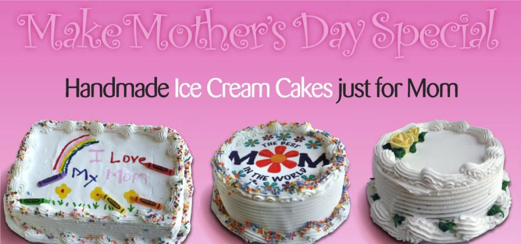Handmade Mother's Day Ice Cream Cakes