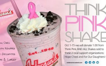 Speciality 'think pink' shake in honor of breast cancer awareness
