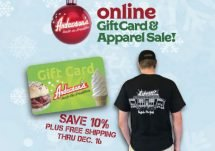 online gift card and apparel sale promotion