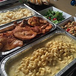 hot group meals prepared for event catering