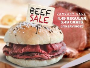 Anderson's January sales include $4.49 roast beef sandwiches