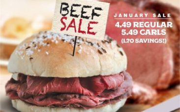 January roast beef sale