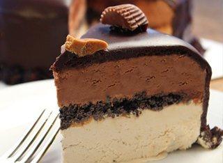 small peanut butter ganache cake